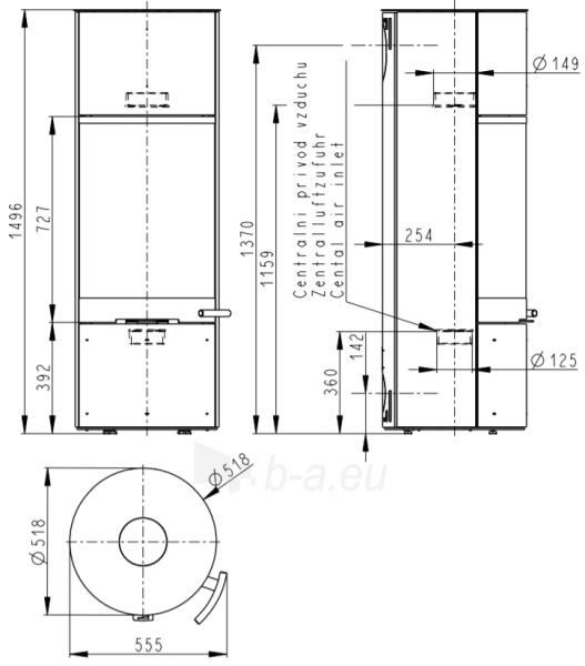 Plieninė krosnelė SORIA Paveikslėlis 3 iš 3 310820163830