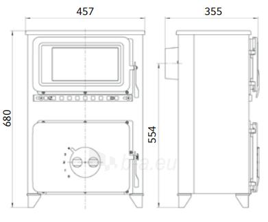 Plieninė krosnelė Thorma Filex-H b, bordo Paveikslėlis 2 iš 3 310820254750
