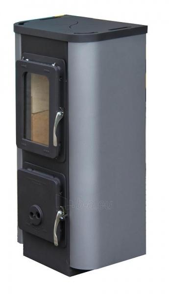 Plieninė krosnelė Thorma Merano, juoda/pilka spalva Paveikslėlis 4 iš 5 310820254749