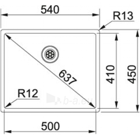Plieninė plautuvė su ventiliu Franke BOX BXX 210/110-50 Paveikslėlis 4 iš 4 310820253503