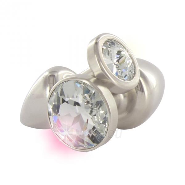 Plieninis kaištis su Swarovski kristalu 25mm Paveikslėlis 1 iš 1 2514042000063