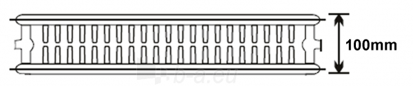 Plieninis radiatorius 22 500x400 apatinio paj. Paveikslėlis 1 iš 3 270622001895