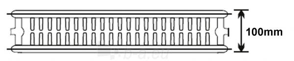 Plieninis radiatorius 22 500x500 apatinio paj. Paveikslėlis 1 iš 3 270622001896