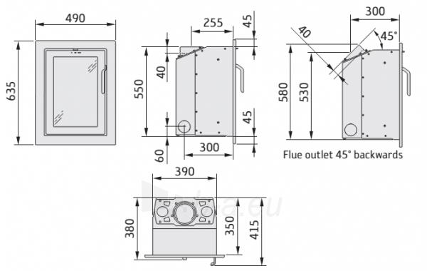 Plieninis židinio įdėklas i-4, juoda sp. (198063+898986) Paveikslėlis 2 iš 2 310820254545