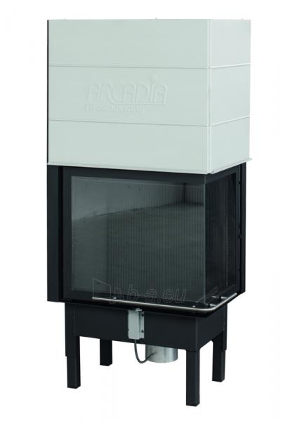 Plieninis židinio ugniakuras Arcadia Vita angolo 58/39, SL pakeliamu kampiniu dešinės pusės stiklu 512 mm Paveikslėlis 1 iš 3 310820176878