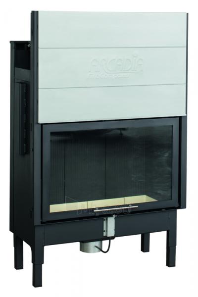Plieninis židinio ugniakuras Arcadia Vita frontale 80, SL pakeliamu tiesiu stiklu 512 mm Paveikslėlis 1 iš 2 310820165790