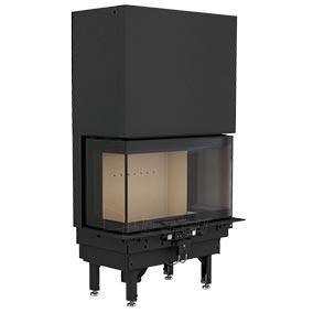 Plieninis židinio ugniakuras NIBE CI50, trijų pusių stiklu, pakeliamomis durimis 298250, 803400) Paveikslėlis 1 iš 2 310820254546