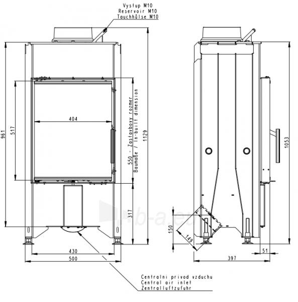 Plieninis židinio ugniakuras Romotop Dynamic D2L13 44.55.13 Paveikslėlis 1 iš 2 310820254467