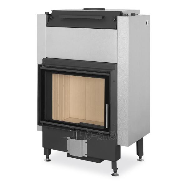 Plieninis židinio ugniakuras Romotop Dynamic DW2M01P 66.50.01P su šilumokaičiu Paveikslėlis 1 iš 2 310820254479