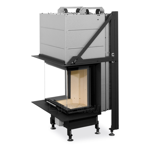 Plieninis židinio ugniakuras Romotop Heat HC3LE01+K1 50.52.31 su montavimo rėmu, stiklas lenktas Paveikslėlis 1 iš 3 310820254482