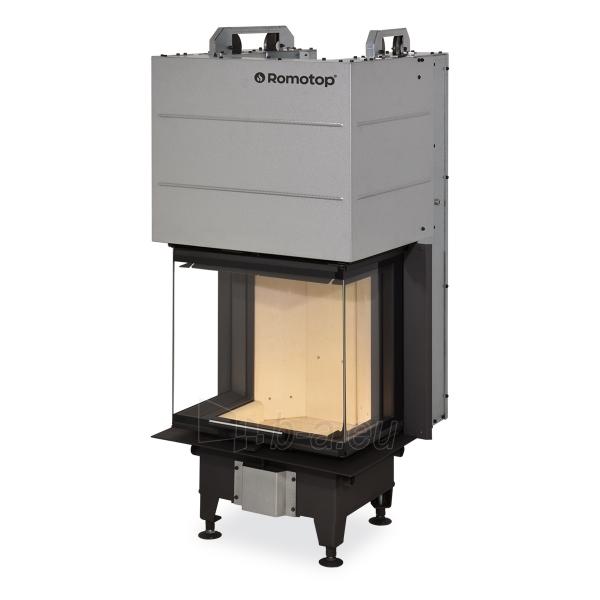 Plieninis židinio ugniakuras Romotop Heat HC3LE21 50.52.31 trijų stiklų Paveikslėlis 1 iš 3 310820254483