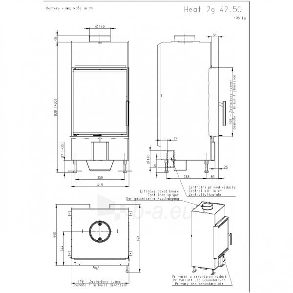 Plieninis židinio ugniakuras Romotop KV HEAT H2Q01 Paveikslėlis 2 iš 2 310820163780