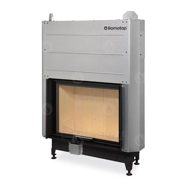 Plieninis židinio ugniakuras Romotop KV HEAT H3LJ01 su pakel. durimis 88.66.01. Durų a-66cm, p-89,7 Paveikslėlis 1 iš 2 310820165807