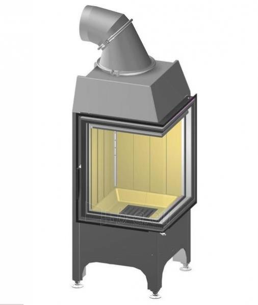 Plieninis židinio ugniakuras Spartherm Mini 2R, dešinės pusės stiklu Paveikslėlis 1 iš 2 310820254543