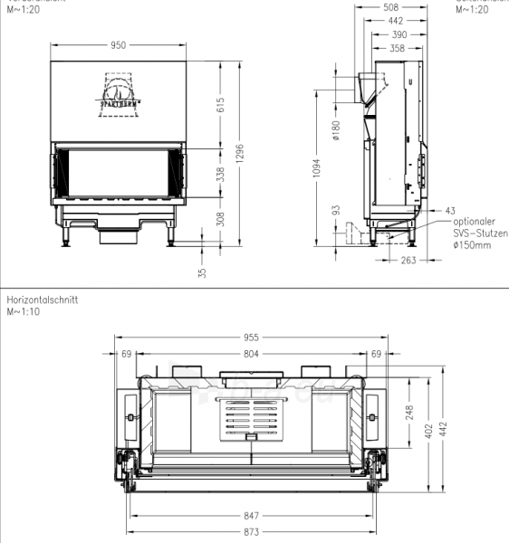 Plieninis židinys Spartherm Premium V-ASh S Paveikslėlis 2 iš 2 310820165826