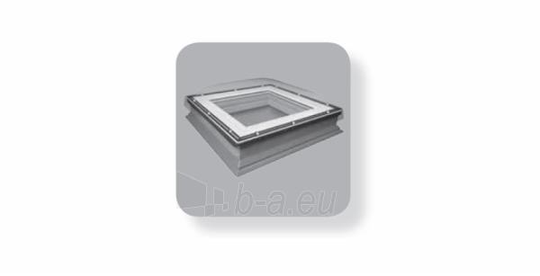 Plokščių stogų langas DXC-C P2 100x100 cm. Paveikslėlis 2 iš 2 310820022623
