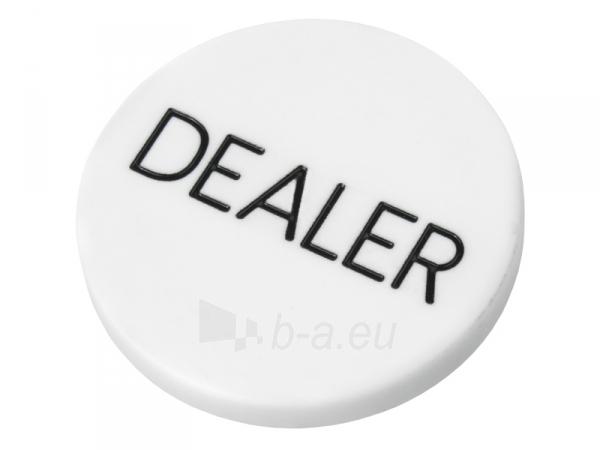 Pokerio dalintojo žetonas (Baltas) Paveikslėlis 1 iš 2 251010000105