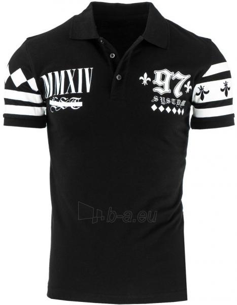 Polo marškinėliai MMXIV (Juodi) Paveikslėlis 1 iš 2 310820032321