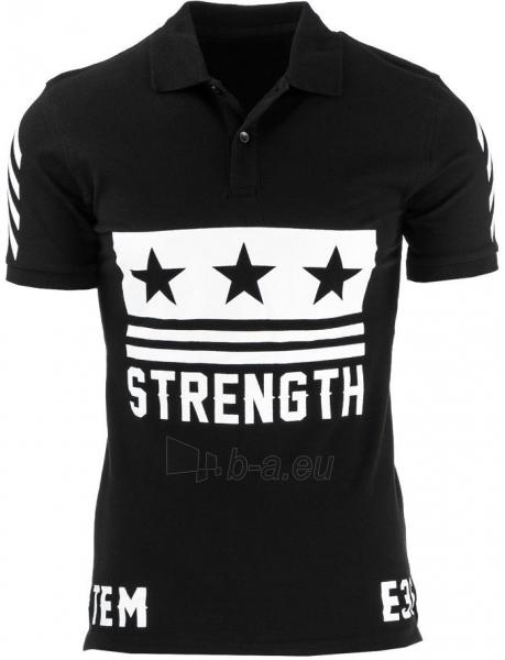 Polo marškinėliai Strenght (Juodi) Paveikslėlis 1 iš 2 310820032319