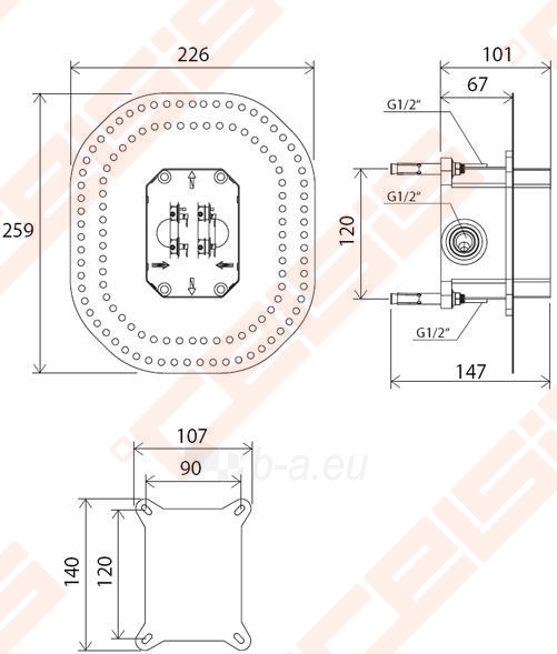 Potinkinė dėžutė RAVAK R-box RB 070.50 Paveikslėlis 4 iš 4 270790200217