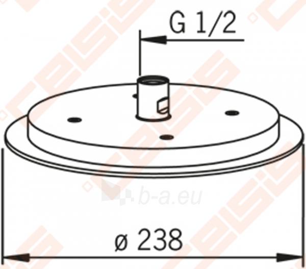 Potinkinė dušo galva ORAS Hydra, 24 cm Paveikslėlis 2 iš 2 270790200234