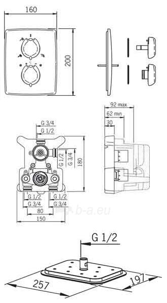 Potinkinė termostatinė dušo sistema Optima (7138; 7188; 272080; 231041; 261998; 532) Paveikslėlis 4 iš 4 310820163884
