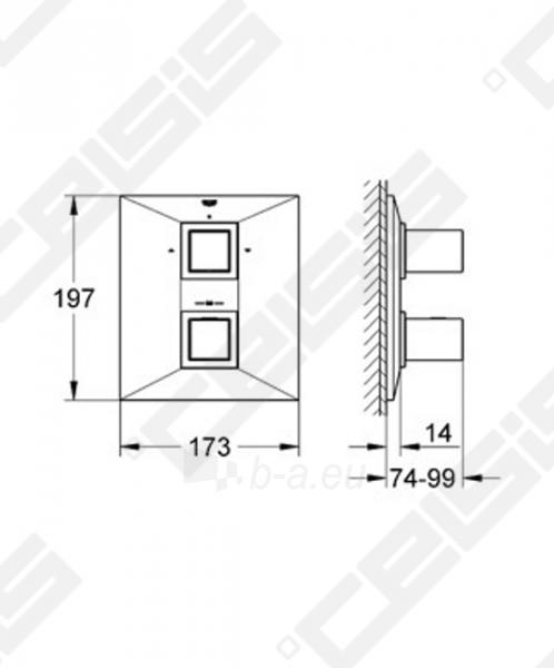 Potinkinio termostatinio vonios/ dušo maišytuvo dekoratyvinė dalis GROHE Allure Brilliant Paveikslėlis 2 iš 2 270790200241