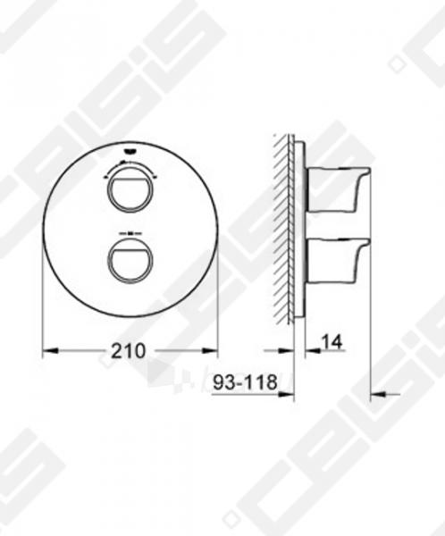 Potinkinio termostatinio vonios/ dušo maišytuvo dekoratyvinė dalis GROHE Grohtherm 2000 NEW Paveikslėlis 2 iš 2 270790200242