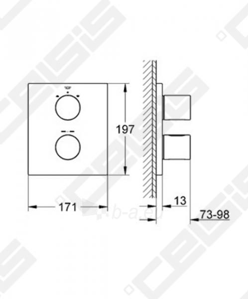 Potinkinio termostatinio vonios/ dušo maišytuvo dekoratyvinė dalis GROHE Grohtherm 3000 Cosmopolitan Paveikslėlis 2 iš 2 270790200243