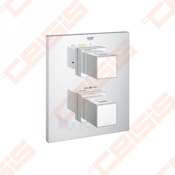 Potinkinio termostatinio vonios/ dušo maišytuvo dekoratyvinė dalis GROHE Grohtherm Cube Paveikslėlis 1 iš 2 270790200244