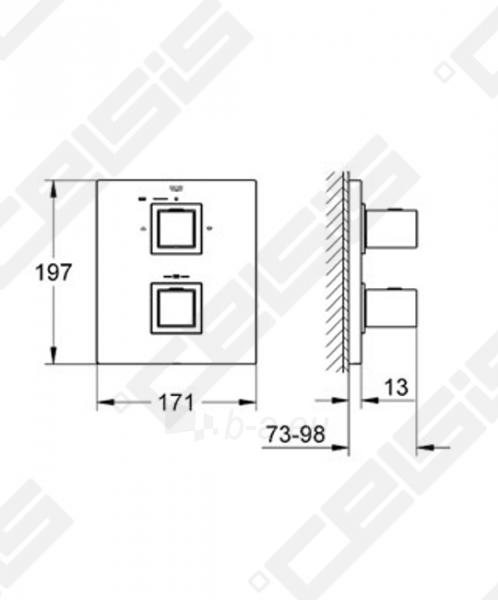 Potinkinio termostatinio vonios/ dušo maišytuvo dekoratyvinė dalis GROHE Grohtherm Cube Paveikslėlis 2 iš 2 270790200244