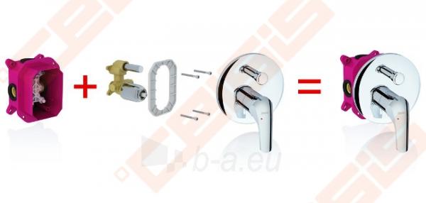 Potinkinis vonios/dušo maišytuvas RAVAK Rosa RS 065.00, skirtas R-box Paveikslėlis 2 iš 4 270790200263