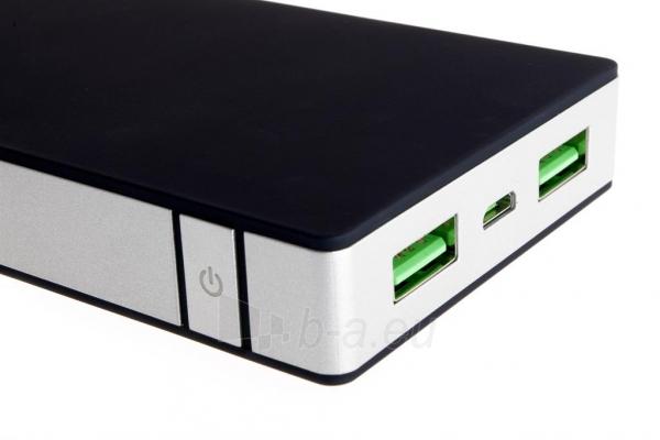 PowerNeed Sunen Nešiojamas įkroviklis 10000mAh, 2x USB; tablet, smartfon; juoda Paveikslėlis 3 iš 8 310820044141