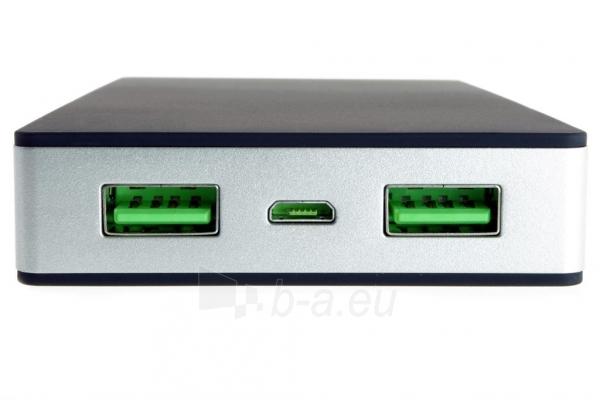 PowerNeed Sunen Nešiojamas įkroviklis 10000mAh, 2x USB; tablet, smartfon; juoda Paveikslėlis 4 iš 8 310820044141