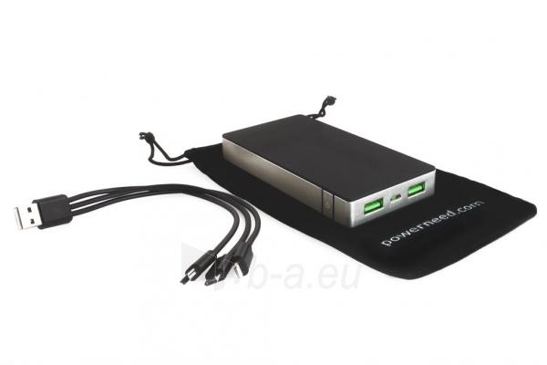 PowerNeed Sunen Nešiojamas įkroviklis 10000mAh, 2x USB; tablet, smartfon; juoda Paveikslėlis 6 iš 8 310820044141