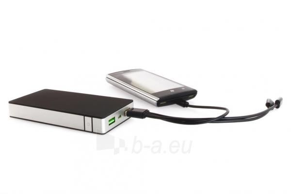 PowerNeed Sunen Nešiojamas įkroviklis 10000mAh, 2x USB; tablet, smartfon; juoda Paveikslėlis 8 iš 8 310820044141