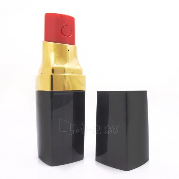 PowerNeed Sunen Nešiojamas įkroviklis Lūpų dažai 2600mAh, USB, juoda-aukso Paveikslėlis 2 iš 6 310820014306