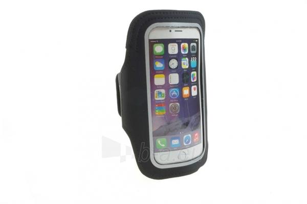 PowerNeed Sunen Sportas raištį dėl bėgikų - iPhone 6/6s, juodai Paveikslėlis 2 iš 8 310820044137