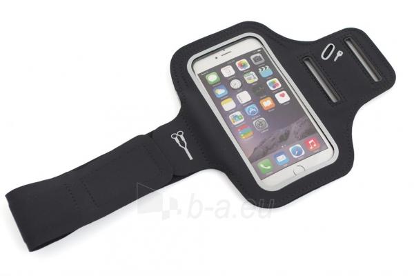 PowerNeed Sunen Sportas raištį dėl bėgikų - iPhone 6/6s, juodai Paveikslėlis 3 iš 8 310820044137