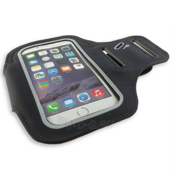 PowerNeed Sunen Sportas raištį dėl bėgikų - iPhone 6/6s, juodai Paveikslėlis 6 iš 8 310820044137