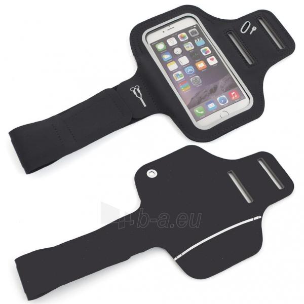 PowerNeed Sunen Sportas raištį dėl bėgikų - iPhone 6/6s, juodai Paveikslėlis 7 iš 8 310820044137