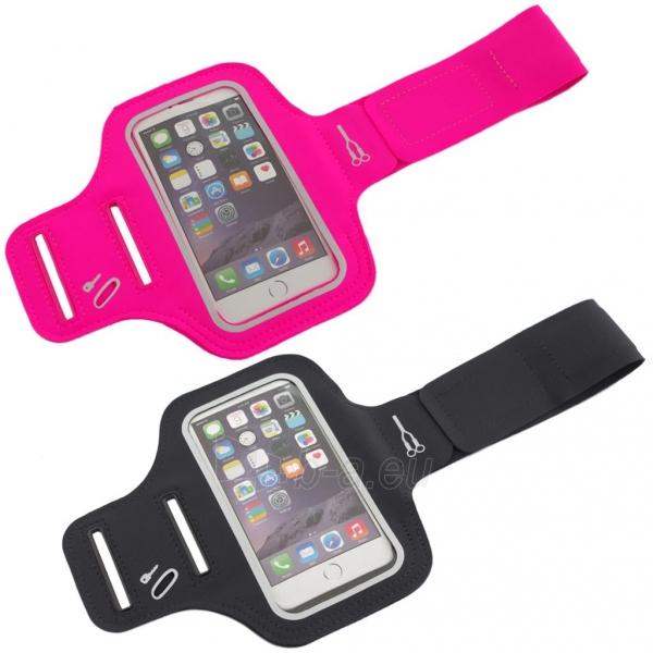 PowerNeed Sunen Sportas raištį dėl bėgikų - iPhone 6/6s, juodai Paveikslėlis 8 iš 8 310820044137