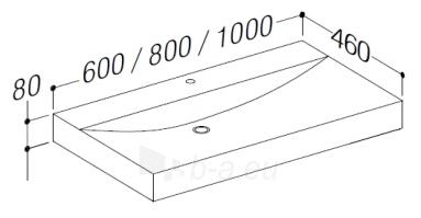 Praustuvas 80cm LF1043 spintelei VERONA Paveikslėlis 2 iš 2 250401000240