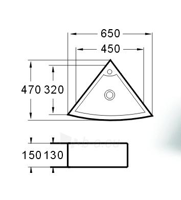 Praustuvas GRG-4928B kampinis Paveikslėlis 2 iš 3 270711000577