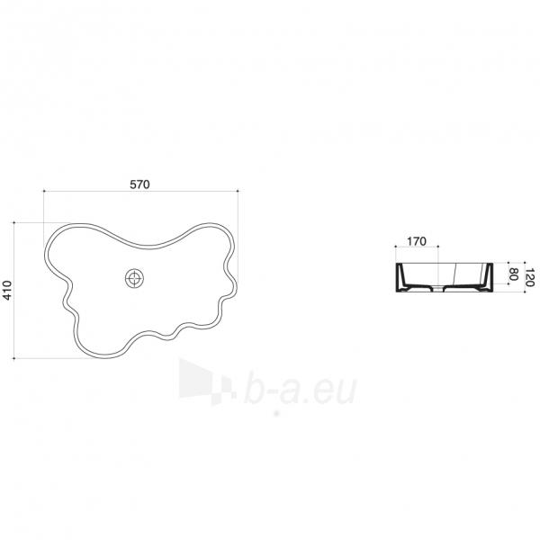 Praustuvas Mini Splash 57x41x12 cm, baltas Paveikslėlis 2 iš 2 310820163695