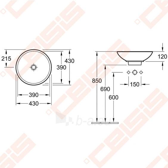 Praustuvas VILLEROY&BOCH Loop&Friends ø430 mm Paveikslėlis 2 iš 2 270711001318