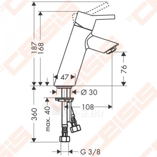 Praustuvo maišytuvas HANSGROHE Talis 80 be ventilio Paveikslėlis 2 iš 4 270722000778