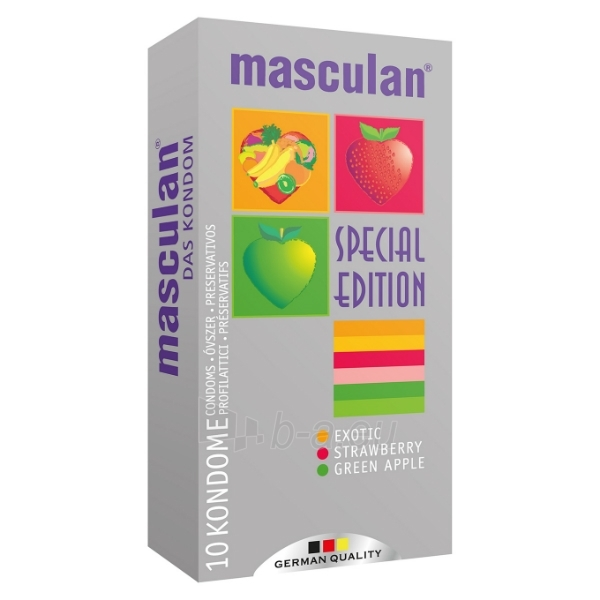 Prezervatyvai Masculan Special Edition 10 vnt. Paveikslėlis 1 iš 2 2514135000172