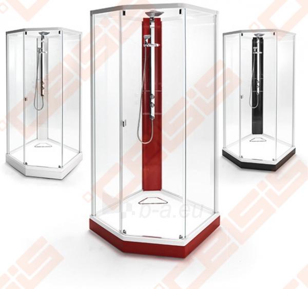 Priekinė stiklo dalis dušo bokso IDO Showerama 8-5 100x100, Dandeleon II ir matinio aliumio profiliu Paveikslėlis 3 iš 6 270730001033