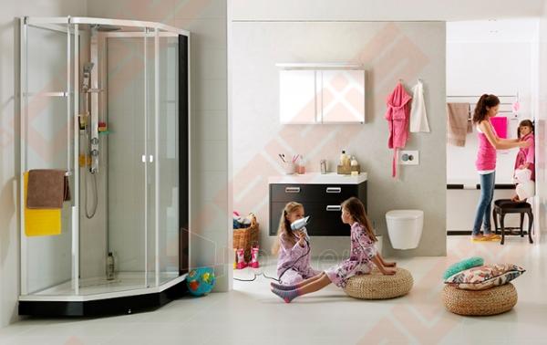 Priekinė stiklo dalis dušo bokso IDO Showerama 8-5 100x100, Dandeleon II ir matinio aliumio profiliu Paveikslėlis 5 iš 6 270730001033